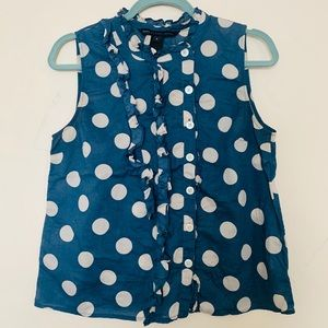 Marc Jacobs sleeve less blue top